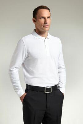 Glenmuir Farrar Plain Colour 100% Cotton Golf Long Sleeve Polo Shirt - Sale