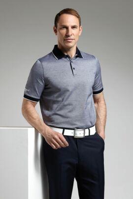 Glenmuir Mens Oxford Tipped Golf Polo Shirt - Sale
