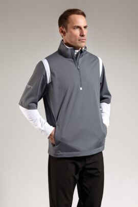Glenmuir Mens Zip Neck Half Sleeve Panel Golf Windshirt - Sale