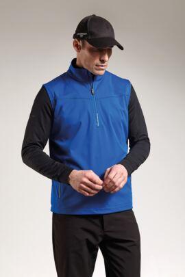 Mens Water Repellent Zip Neck Performance Sleeveless Windshirt
