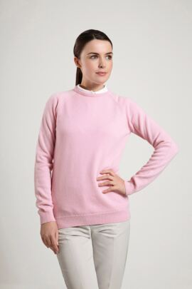Glenmuir Sundridge Lambswool Crew Neck Classic Golf Sweater - Sale