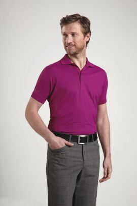 Glenmuir Mens Performance Classic Fit Plain Golf Polo Shirt