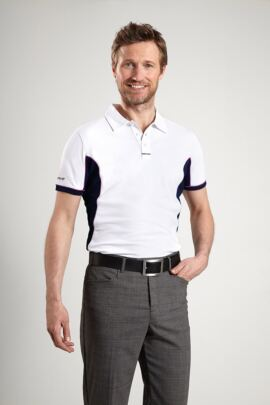 Glenmuir Mens Performance Contrast Panel Golf Polo Shirt