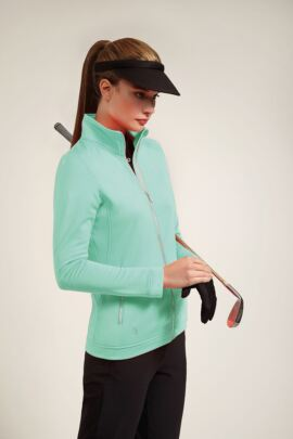 Glenmuir Ladies Performance Zip Front Long Sleeve Mid Layer - Sale