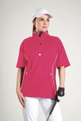 Glenmuir Ladies Zip Neck Half Sleeve Piped Golf Windshirt - Sale