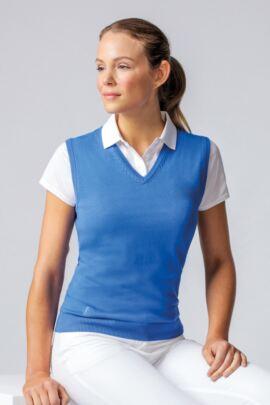 Ladies V Neck Cotton Golf Slipover