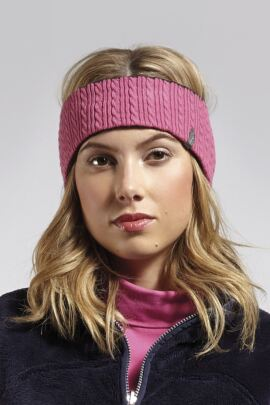 Ladies Reversible Cable Knit Golf Headband