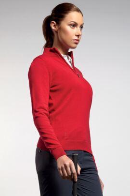 Glenmuir Ladies Zip Neck Cotton Golf Sweater