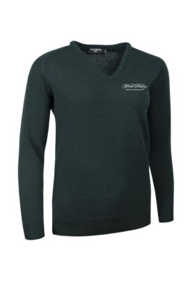 WHO Glenmuir Ladies V Neck Lambswool Golf Sweater