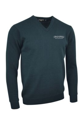 WHO Glenmuir Mens V Neck Lambswool Golf Sweater