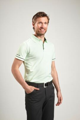 Glenmuir Mens Performance Piping Golf Polo Shirt