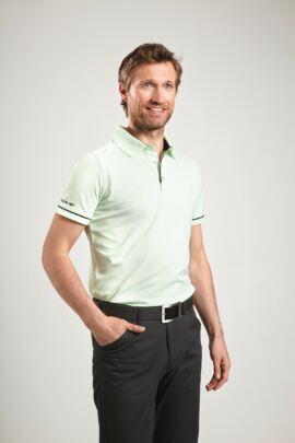 Glenmuir Mens Performance Piping Golf Polo Shirt