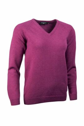 Glenmuir Brunton Lambswool V Neck Classic Golf Sweater - Sale