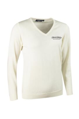 WHO Glenmuir Ladies V Neck Merino Wool Golf Sweater