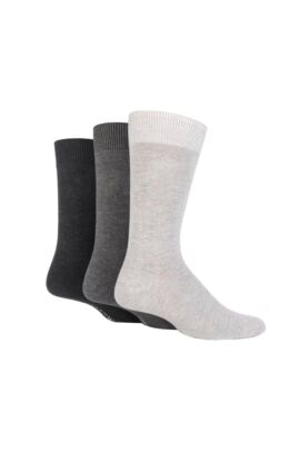 Mens 3 Pair Classic Bamboo Plain Socks