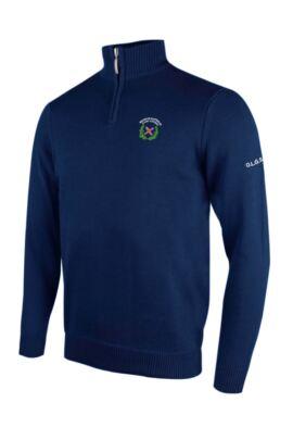 OLGS Glenmuir Mens Zip Neck Lightweight Cotton Golf Sweater