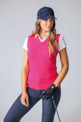 Ladies V Neck Lambswool Golf Slipover