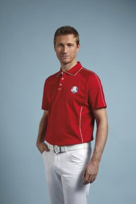 Glenmuir Mens Ryder Cup 2014 Fanwear Drumochter Mercerised Cotton Polo Shirt