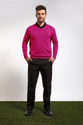 Mens Supersoft Cotton V Neck Golf Sweater - Sale