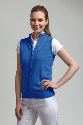 Glenmuir Ladies Contrast Outline Diamond Golf Gilet - Sale