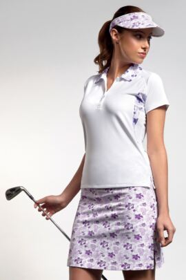 Ladies Performance Printed Side Panel and Collar Golf Polo Shirt -SALE