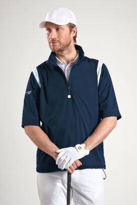 Glenmuir Mens Zip Neck Half Sleeve Panel Golf Windshirt - Sale