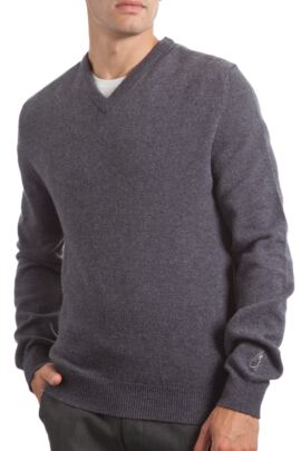 Glenmuir Heritage 100% Lambswool Plain V Neck Fitted Sweater - 50% OFF