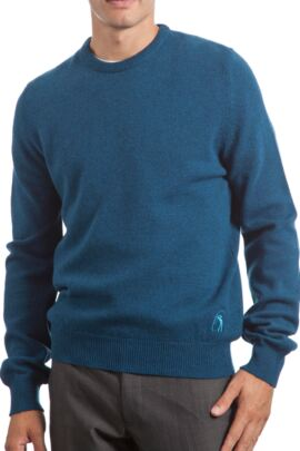 Glenmuir Heritage 100% Lambswool Plain Crew Neck Fitted Sweater - 50% OFF
