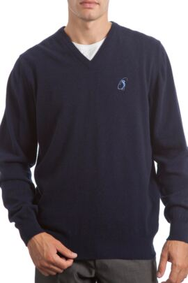 Glenmuir Heritage 100% Extrafine Lambswool Plain V Neck Classic Fit Sweater - 50% OFF