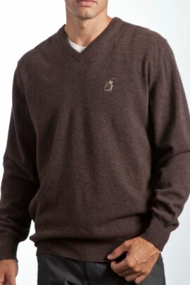 Heritage 100% Extrafine Lambswool Plain V Neck Classic Fit Sweater - Sale