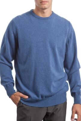 Glenmuir Heritage 100% Extrafine Lambswool Plain Crew Neck Classic Fit Sweater - 50% OFF