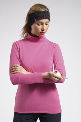 Glenmuir Ladies Roll Neck Long Sleeve Cotton Golf Shirt