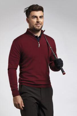 Glenmuir Mens Merino Zip Neck Sweater