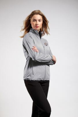 Official Ryder Cup 2018 Ladies Water Repellent Embossed Patterned Zip Front Performance Jacket