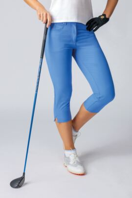 Ladies Lightweight Stretch Performance Golf Capri Pants