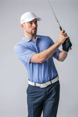 Mens Classic Fit Cotton Pique Golf Polo Shirt