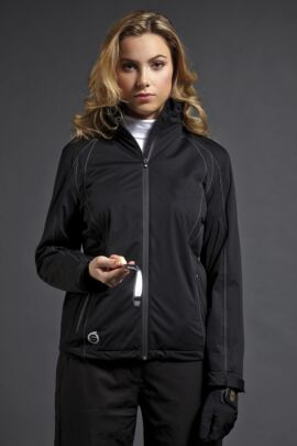 Ladies Whisperdry Contrast Stitch Waterproof Golf Jacket with Thermal Lining