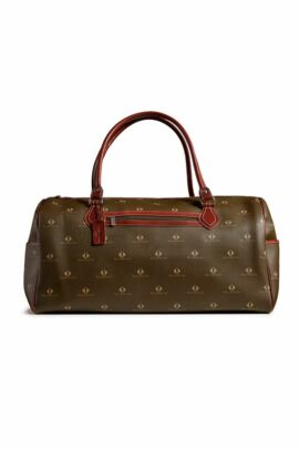 Glenmuir Retro Diamond Print Leather Weekend Bag - Sale