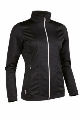 Ladies Embossed Diamond Zip Front Performance Mid Layer - Sale
