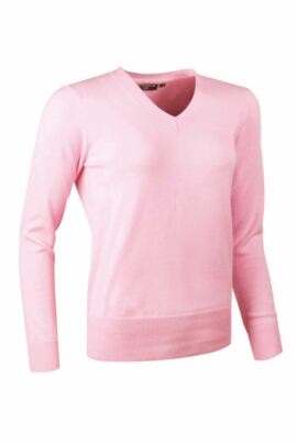 Ladies Supersoft Cotton V Neck Golf Sweater - Sale