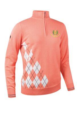 Moffat GC Glenmuir Ladies Zip Neck Offset Diamond Golf Sweater