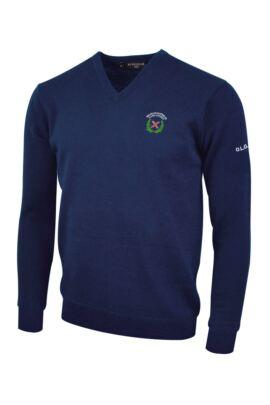 OLGS Glenmuir Mens V Neck Lambswool Golf Sweater
