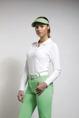 Glenmuir Ladies Long Sleeve Cotton Pique Polo Shirt