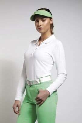 Glenmuir Ladies Long Sleeve Cotton Pique Polo Shirt
