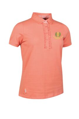 Moffat GC Ladies Print and Frill Cotton Golf Polo Shirt