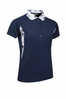 Ladies Performance Printed Side Panel and Collar Golf Polo Shirt - Sale