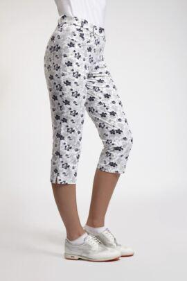 Ladies Lightweight Stretch Printed Capri Pants