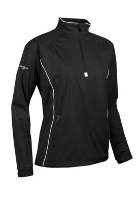 Glenmuir Ladies Zip Neck Long Sleeve Piped Golf Windshirt - Sale