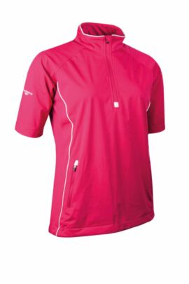 Glenmuir Ladies Zip Neck Half Sleeve Piped Golf Windshirt - Sale
