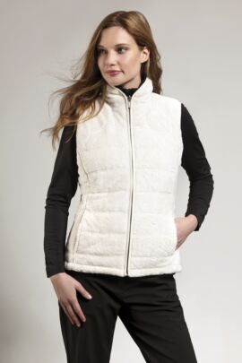 Ladies Water Repellent Reversible Fleece Lined Quilted Gilet